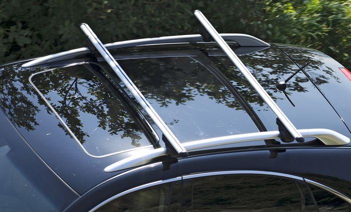 Hausmarke Dachträger Brio m. Aluminiumprofil f. Mazda 5, 5-T MPV Bj. 2013-2015, m. offener Reling