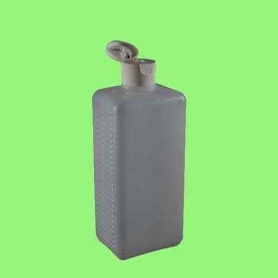 Flasche, Kunststoff- vierkant m. Klappverschl. 500ml
