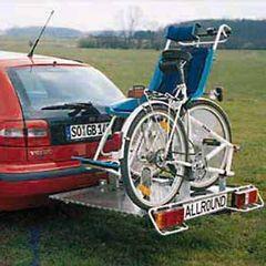 Allround Heckträger für Rollfiets- Rollstuhl für d. Anhängerkupplung AHK Heckträger für Rollstuhl