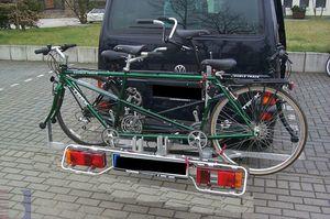 Allround Heckträger für 2 Tandem Typ UT für d. Anhängerkupplung AHK Fahrradträger für Tandemfahrräder