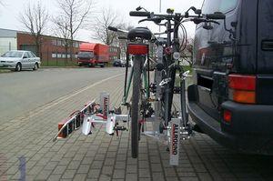 Allround Tandemträger f. 2 Tandem plus 2 Fahrr. Typ UT für d. Anhängerkupplung AHK Fahrradträger für Tandemfahrräder