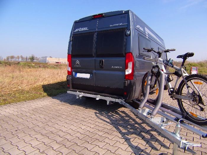 SMV Swing Carry E- Bike Fahrradträger schwenkbar u. hochklappbar- spez. für Peugeot Boxer X250/X290 Bj. 2011-, ohne AHK