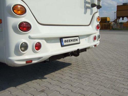 Anhängerkupplung Typ SM 01, variabel f. Wohnmobile mit vorh. Tragfähige Rahmenverl. Bis 1420mm RB, D 12,5kN.