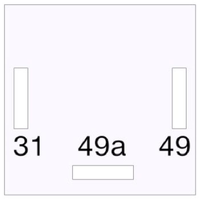 Ersatz- Blinkerrelais / Blinkgeber JAEGER incl. C2 Kontrolleuchte kompatibel für JAEGER 52410004