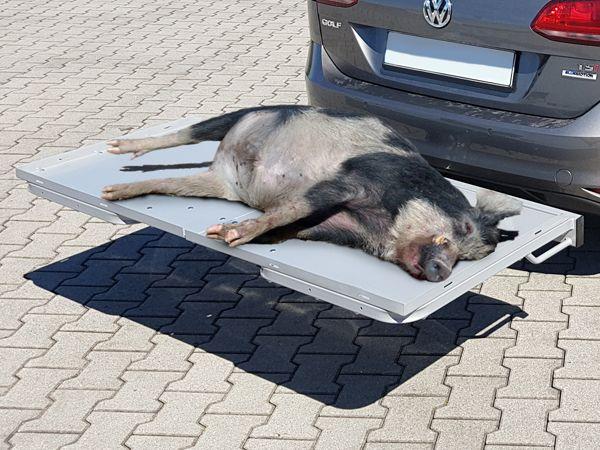 ALUTRANS Heckträger Wildträger max. 100kg für d. Anhängerkupplung -AKTION- AHK Lastenträger