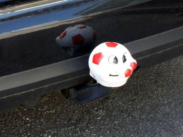 Kugelkappe Typ Fussball rot