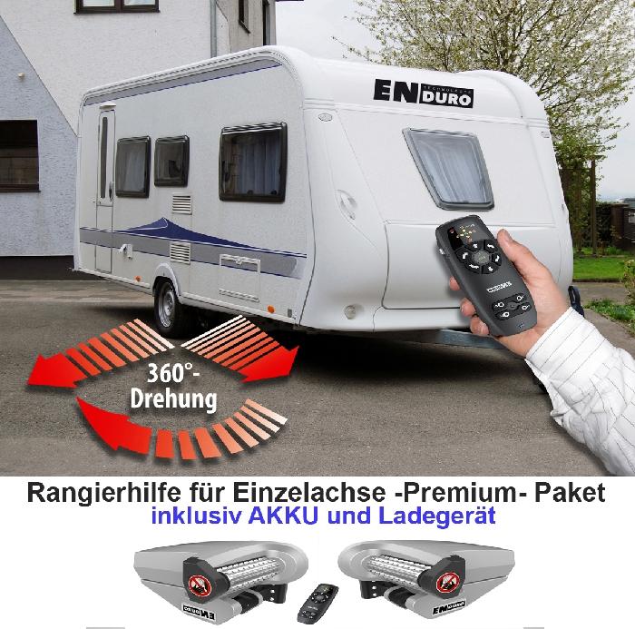Anh./ Wohnanhänger-Einachs-Rangierhilfe- Enduro EM505, incl. AGM AKKU light u. Ladegerät, PREMIUMPAKET 2000kg