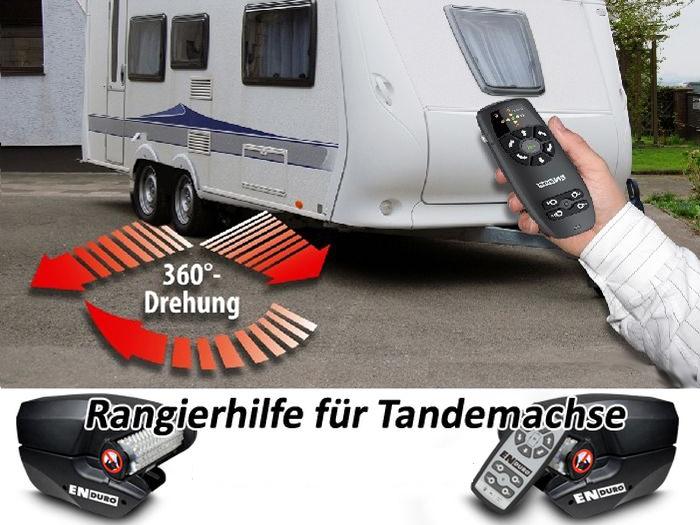 Anh./ Wohnanhänger-Tandem-Rangierhilfe- Enduro EM303A plus, incl. AGM Camping AKKU light u. Ladegerät, PREMIUMPAKET 1800 kg