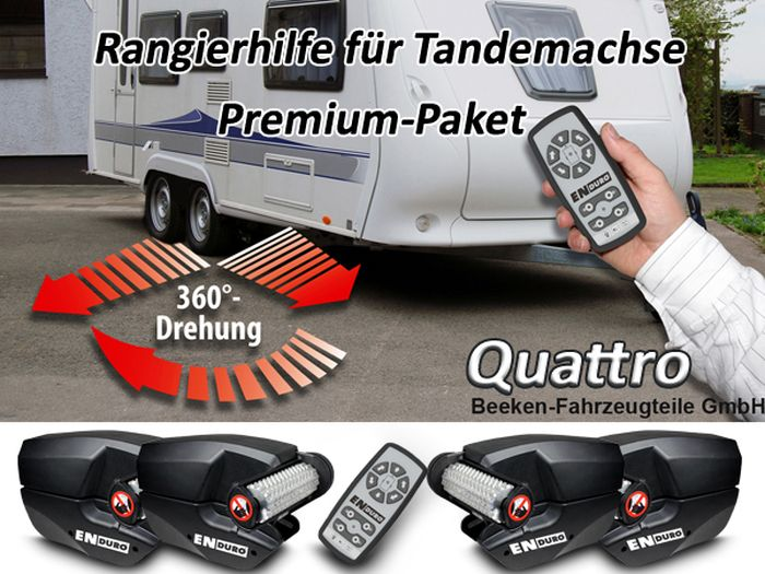 Anh./ Wohnanhänger-Tandem-Rangierhilfe- Enduro EM303A plus Quattro, incl. AGM AKKU light u. Ladegerät, PREMIUMPAKET 2500 kg