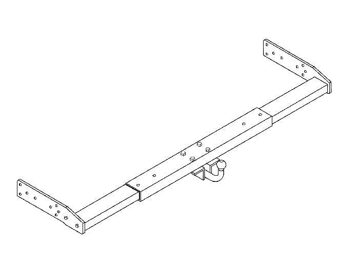 Anhängerkupplung Wohnmobil BOSStow AHK Typ 05, feststehend, variabel D 12,5kN., LB 145mm, Fert.