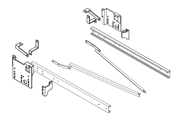 Rahmenverlängerung 1500 Basis BOSStow Typ 01 Fiat Ducato X250/ X290_ Bj. 2014- (Montage innen o. aussen mgl. 12,5 kN)