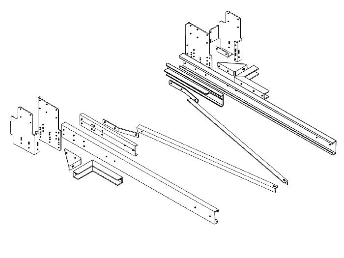 Rahmenverlängerung 2000 Basis BOSStow Typ 01 Ford Transit Heckantrieb (FT350 Leiterrahmen)_ Bj.2006-2013