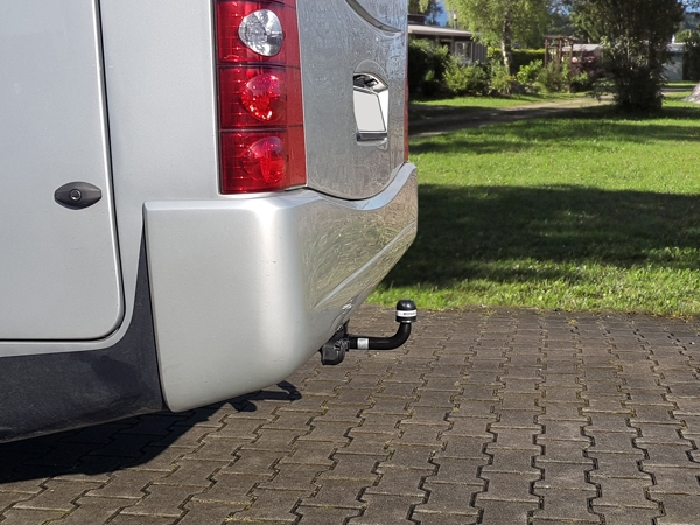 Anhängerkupplung Wohnmobil BOSStow Mercedes Sprinter 5er/ VW Crafter 50 Bj. 2006-2018, Typ 01 hor. abnehmbar inklusiv Rahmenverlängerung 2000mm