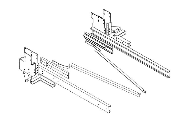 Rahmenverlängerung 1500 Basis BOSStow Typ 01 VW Crafter 35, MAN TGE 35 Heckantrieb, Bj. 2018-