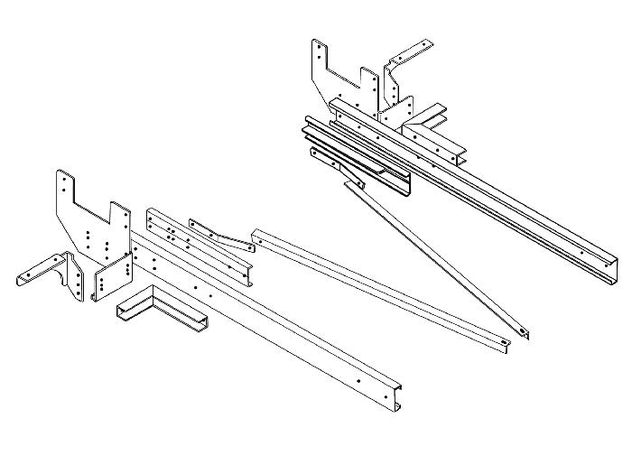 Rahmenverlängerung 2000 Basis BOSStow Typ 01 spez. V22 Ford Transit Flachboden_ Bj.2014-