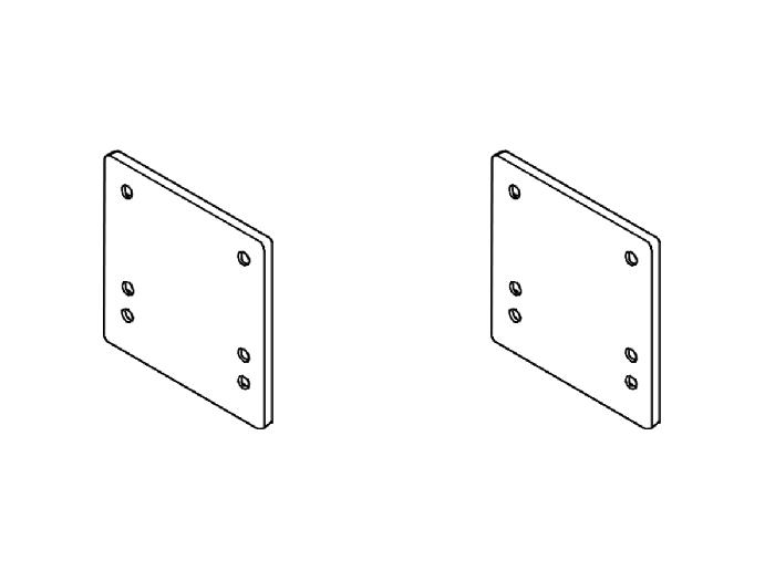 Rasterplatten Absenkplatten Satz BOSStow Ausführung kurz-spezial