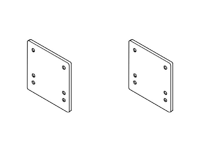 Rasterplatten Absenkplatten Satz BOSStow Ausführung spezial_get. RV_230 u. gerade RV