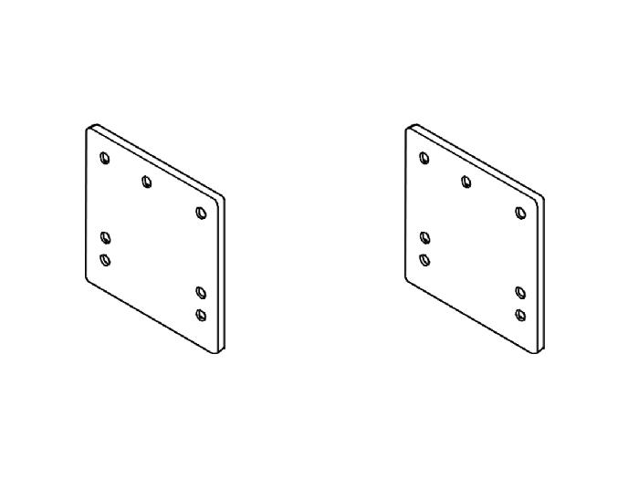 Rasterplatten Absenkplatten Satz BOSStow Ausführung kurz- spezial- Lochbild 70-70