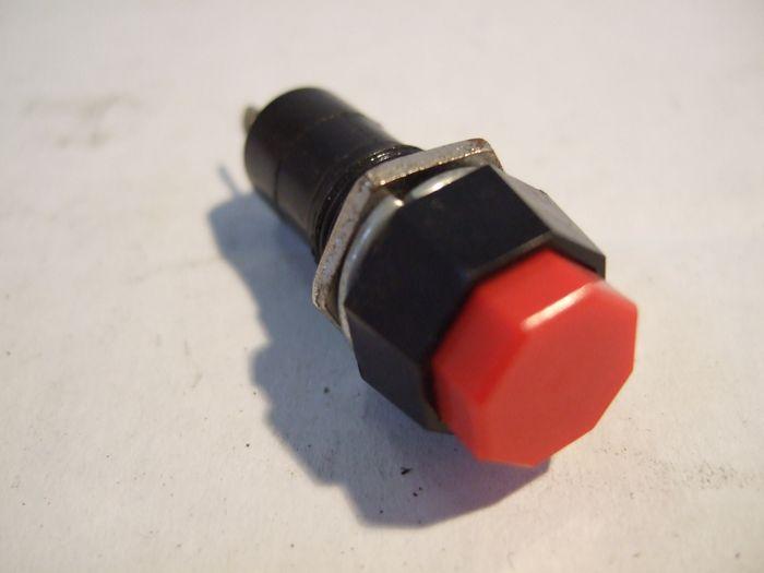 Druckschalter, rund, 18x40mm 2-polig, 250V1A, Push-ON, Push off