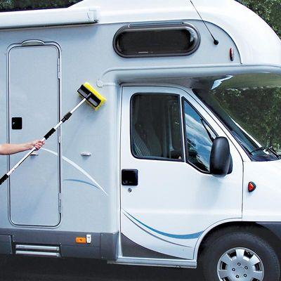 waschb rste wohnwagen wohnmobil mit teleskopstiel heavy duty 2 4 meter wohnwagenspiegel und. Black Bedroom Furniture Sets. Home Design Ideas