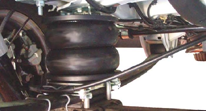Auflastung Wohnmobil Fiat Ducato X250, X290 (2014-), Zusatz-Luftfederung 8 Zoll Zweikreis Doppelfaltenbalg- Anlage, Semi Air Basic-Plus, syst. LF1 - AKTION -