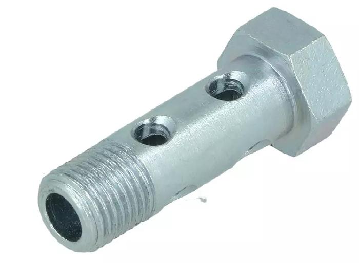 Zubehör Hydraulik: Hohlschraube doppelt G1/4 x42mm für Schlauchfitting Serie 3000