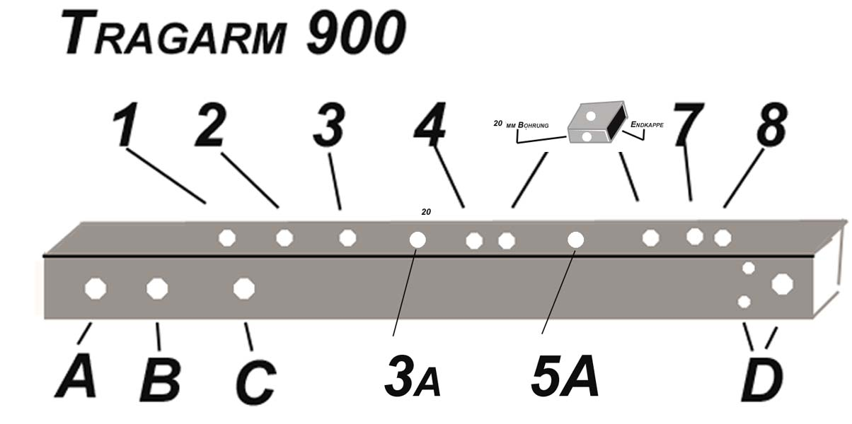 ALUTRANS prestige Tragarm 600mm