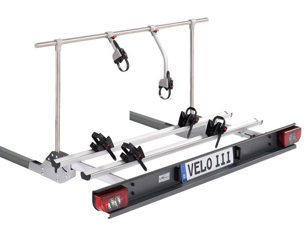 Sawiko Velo III - hochklappbar -für 2 Fahrräder o. E-Bike, f. Reisemobile mit nicht tragfähigem Heckrahmen