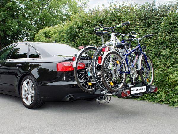 ALUTRANS IMPULS PRO III faltbar f. 3 Fahrräder/ E- Bike AHK Fahrradträger für 3 Fahrräder