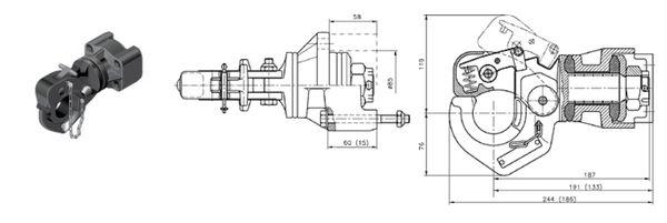 Hakenkupplung/ Natokupplung Rockinger 83x 56, 20kN