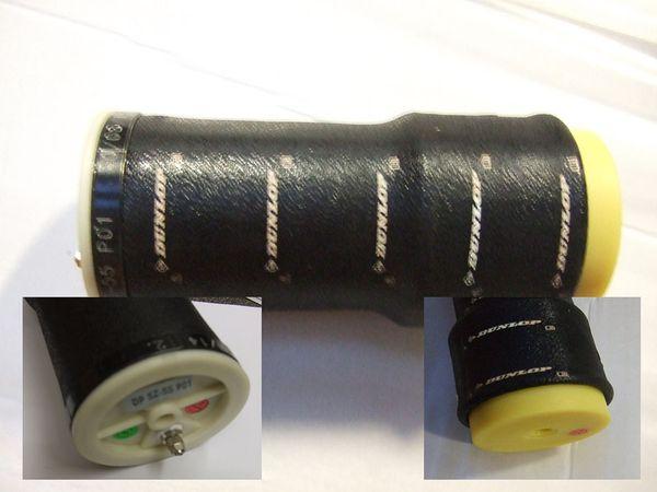 ( LF2) Ersatz- Luftbalg ( Luftfederbalg ) Contitech SZ55-20 mit Anschlußstück, f. Schlauch schwarz 4,00 mm