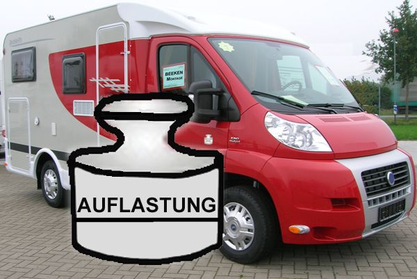 Auflastung Transporter Citroen Jumper X250, X290 (33 light), Bj. 2014-, auf 3500 kg, d. FB8, System LF1