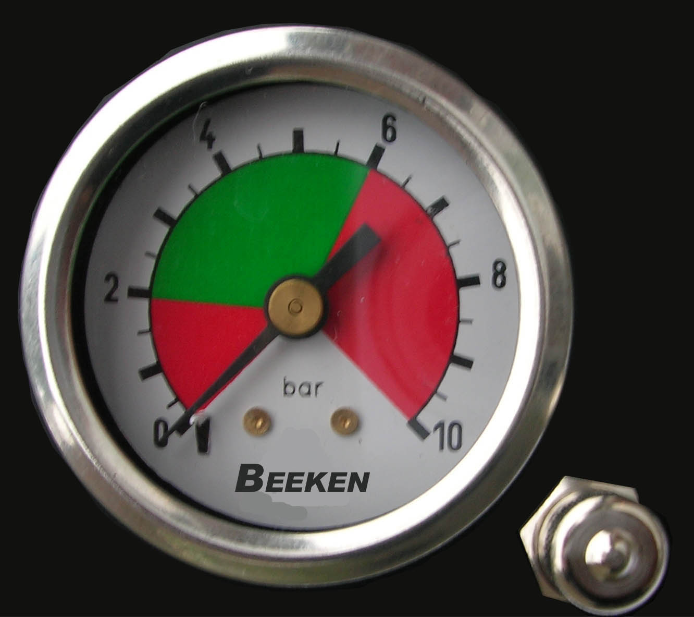 ( LF2) Druckluftmanometer, f. Schlauch schwarz 4,00 mm