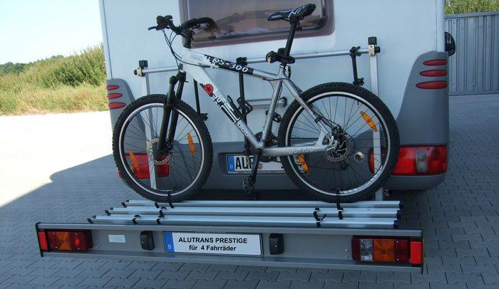 ALUTRANS ECO prestige Wohnmobil Fahrradträger für 4 Fahrräder o. E-Bike