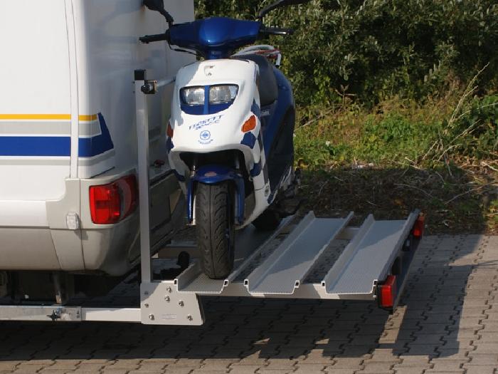 ALUTRANS Premium 2 Roller/ Motorradträger, 150kg spez. für Peugeot Boxer X250/X290 Bj. 2011-, mit AHK