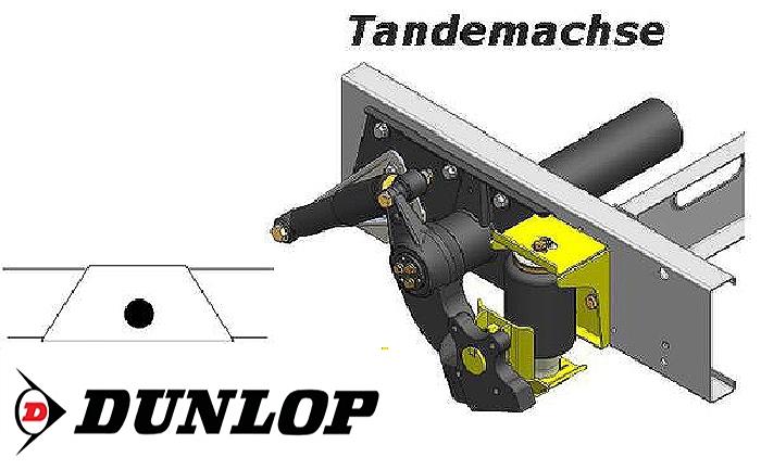 Luftfederung für ALKO ( AL-KO )- Chassis- 2002-2006_ Tandemachse, Trommelbremse, Zweikreis Zusatz-Luftfederanlage, syst. LF3