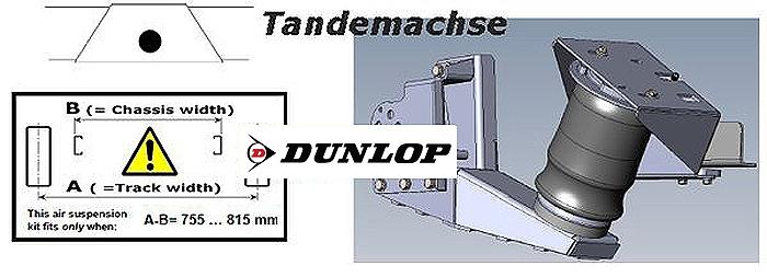 ALKO ( AL-KO )- Chassis- 2007-2011 Standard Radaufnahme- Tandemachse- Breitspur, Zweikreis Zusatz-Luftfederanlage, syst. LF3