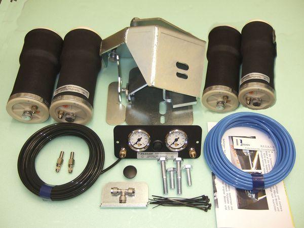 Luftfederung für ALKO ( AL-KO )- Chassis- 2011- Standard Radaufnahme- Tandemachse, spez. für auflaufendes Chassis, Zweikreis Zusatz-Luftfederanlage, syst. LF3
