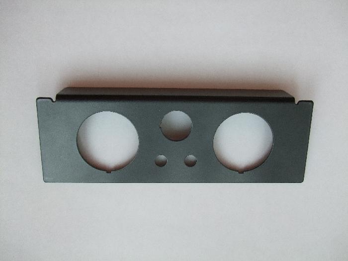 ( LF1) Manometerblende für Zweikreisanlage, Din Radioschacht