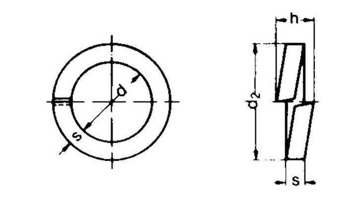 Federring, Durchmesser 10 mm, vz, 1 Stk.
