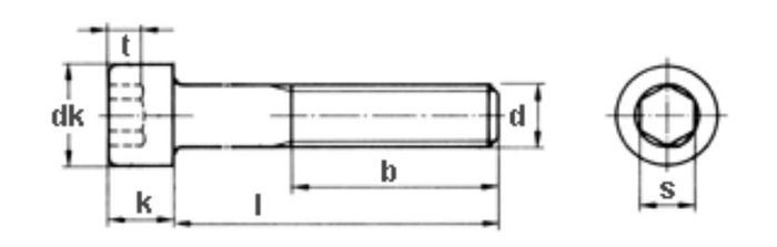 Innensechskantschraube M10x65, Güte 8. 8, vz, 300 Stk.