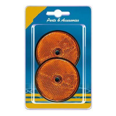 Seitentrahler rund 60 mm, zum Schrauben, gelb, 2 Stück