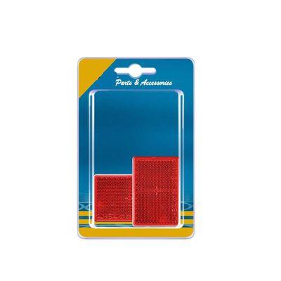 Rückstrahler rot 90x35mm selbstklebend 2 Stück