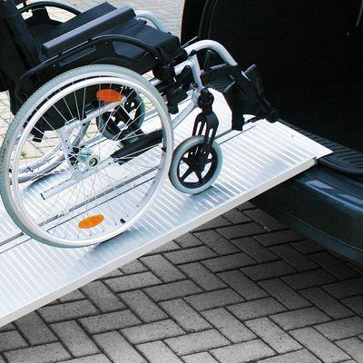 Auffahrrampe, Auffahrschiene Aluminium klappbar für Rollstuhl 122x73cm 270kg (30er Pack)