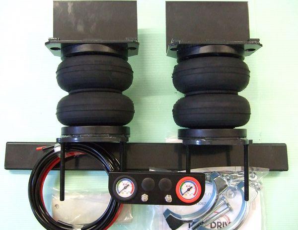 VW Crafter 46-50, Bj. 2006-2016, Zusatz-Luftfederung 6 Zoll Heavy Zweikreis Doppelfaltenbalg- Anlage, syst. LF1