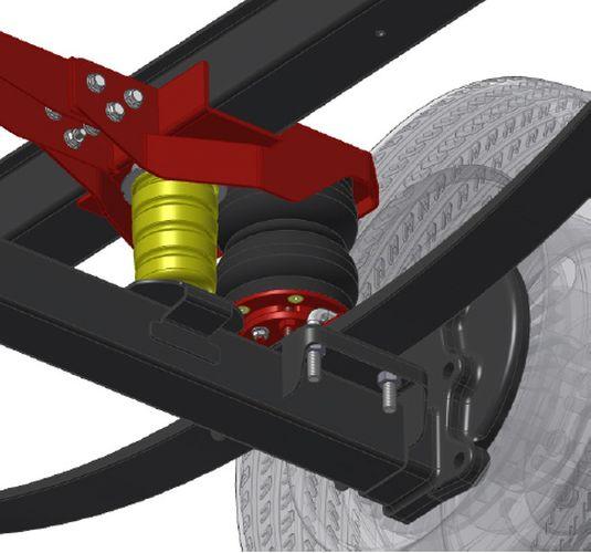 Nissan NV 400 III Bj. 2010- 2014, Frontantrieb, Zusatz-Luftfederung 6 Zoll Heavy Zweikreis Doppelfaltenbalg- Anlage, syst. LF1
