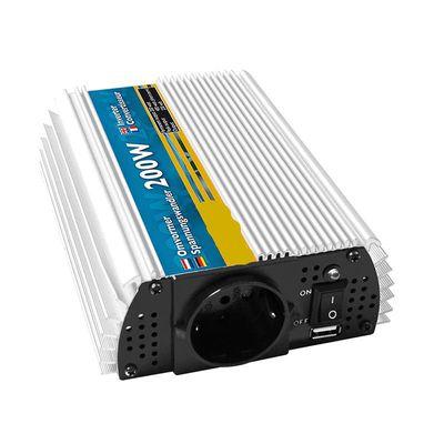 Spannungswandler, Wechselrichter 12V-230V 200W/400W + USB