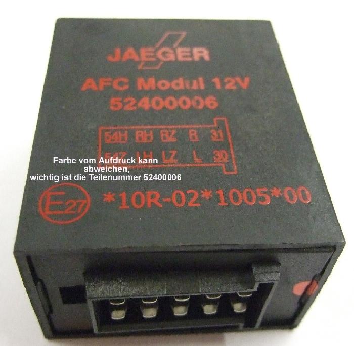 Modul Steuergerät JAEGER AFC Modul 12V Ersatz 52400006 u. 52400570