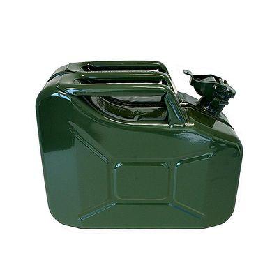 Benzinkanister 10L Metall grün UN-& TüV GS-geprüft