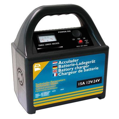 Batterieladegerät 12V/24V 15Amp.